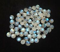 Wholesale Lot Natural White Rainbow Moonstone 5 mm Round Cabochon Loose Gemstone