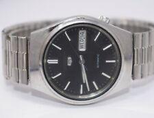 Vintage Seiko 5 Mens Automatic Wristwatch 6309-7330 Black Dial Day/Date