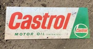 Castrol Oil Petrol Metal Sign Large