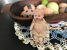 "#107  Vintage MINI PORCELAIN Body DOLL   4 1/4"" Tall MS 1984"