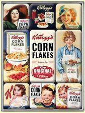 Set Calamite KELLOGG´S CLASSICS Cereali Cornflakes 9 teilig in Scatola,NUOVO