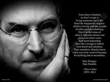 "Steve Jobs Poster 18""x24""  ""Your time is limited"" Premium Poster Print Wall Art"