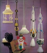 Vtg Patterns - Carousel, Lamp, Plant Hanger #SH2 Macrame School House Vol 2 Book