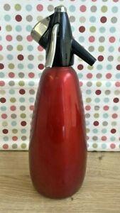 Vintage Red Shux Sparklets BOC Soda Syphon 1970's