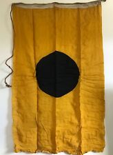"Antique Linen Gold & 17"" Blue Dot US Yacht Flag  With Old 'I' Marking Rare"
