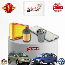 KIT TAGLIANDO 4 FILTRI VW SHARAN 1.9 TDI 96KW 130CV DAL 2005 -> 2010