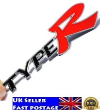 3d Type R Racing Letter Logo Emblem Badge Decal Sticker for Honda KIA Mugen