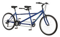 Pacific 26 inches Unisex Dualie Tandem Bike Bicycle - Blue