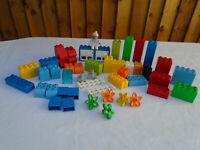 Lego Duplo Bundle Spare Pieces & Parts Bricks Figure Flowers More 93 Pieces