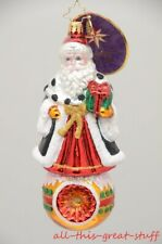 NWT CHRISTOPHER RADKO NORTHERN NOBILITY Santa Reflector Christmas Ornament