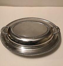 Dish, W/ Glass Liner,Pilgrim Silverplated