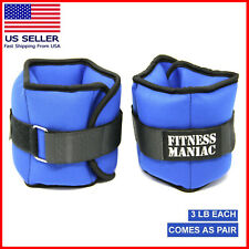 Adjustable Straps Neoprene Exercise Ankle Weight Fitness Leg Wrist Strap 6 lb