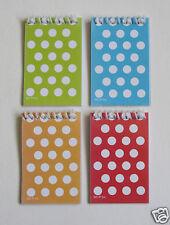 12 Polka Dot Spiral Note Book Memo Pad Kid Party Goody Bag Filler Favor Supply