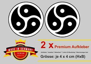 Auto Aufkleber BDSM Triskelion Icon Emblem Symbol Triskel kinky Fetisch Sticker
