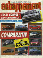 ECHAPPEMENT n°218 12/1986 SIERRA COSWORTH GrA 25 GTI GOLF GTI HONDA CIVIC ALFA75