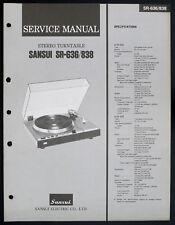Sansui sr-636 sr-838 original estéreo turntable Service-Manual/diagram o153