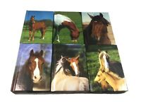 6 x Horse Pony Hard Back Note Books Party Bags Fillers Class Gifts 8.5cm x 6cm