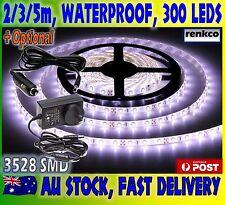 2M/3M/5M 300 LEDs/5M Cool White Waterproof Flexible 12V 3528 SMD Led Strip Light