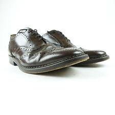 Men Size 11 Wingtip Oxford Dress Shoes Brown