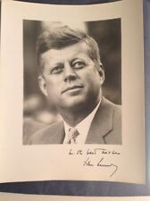 SALE! President John F Kennedy Black & White 8x10 Photo Facsimlie Autograph