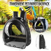 Parrot Bird Pet Carrier Cage Nest Bag Breathable Transparent Backpack Breathable