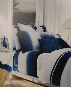 Ralph Lauren Indigo Modern King Bedskirt Bed Skirt $110 NIP