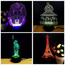 Chic 3D Led 7 Colors Change Lamp Base USB Touch Lamp Holder Luminous Night Light