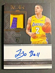 Lonzo Ball Rookie Patch Auto #/99 2017-18 Panini Noir Basketball *SHARP*CLEAN*