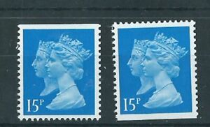 GB Booklet Stamps- 1467 x 2-  top + 1 bottom edge imperf  10 Jan 1990