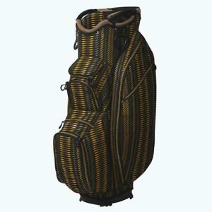OUUL Superlite Cart Bag 15 way Divider Top in Black/Brown/Yellow Brand New *Sale