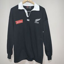 New Zealand All Blacks Steinlager Iconic Canterbury Rugby Jersey Size Medium