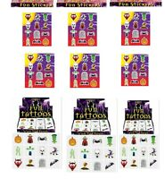 72 Halloween Stickers & 36 Halloween Tattoos Kids Pinata Party Bag Toy Fillers
