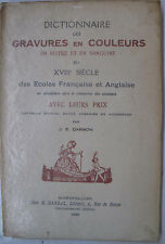 Art Bibliography Reference French English 18th Century Engravings Prices 1929