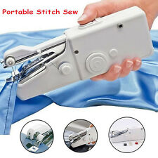 Portable Mini Handheld Sewing Machine Home Travel Cordless Clothes Stitch