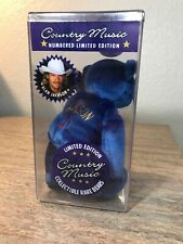 Country Music Collectible Bear 1999 Alan Jackson New Sealed In Box