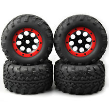 RC 1:8 4Pcs Bigfoot Monster Ruber Tires Wheel Rims For HPI HSP TRAXXAS Summit