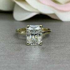 2.60 ct Radiant Cut Diamond Yellow 925 Silver Ring VVS1/D New Ring