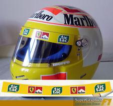 Casque visière autocollant pour s'adapter badoer schumacher tic tac ferrari F1 en jaune