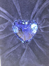Swaroski Crystal SCS 1997 Blue Heart - Renewal Gift - Mint in Box