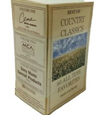 Country Classics 60 All Time Favorites Cassette Tape 3 Vol Set 1996 Sealed Rare