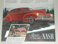 1940 NASH advertisement, Nash sedan, color art