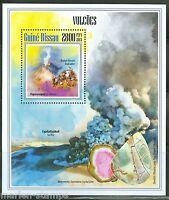 GUINEA BISSAU 2013  VOLCANOES & MINERALS SOUVENIR SHEET MINT NH