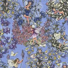 Fat Quarter Periwinkle Flower Fairy Quilting Cotton Print Fabric Michael Miller