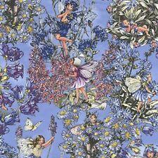 Fat Quarter Periwinkle Flower Fairy Quilting Cotton Print Fabric Michael Miller