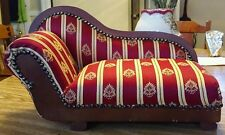Doll size fainting couch chaise vintage antique