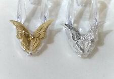 Cinderella Princess 'Glass' Shoe/Slipper +Filigree crystal Butterfly*Cake Topper
