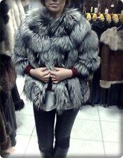 100% Echte Damen FELL Jacke Pelz Mantel Luxus Winter NEU
