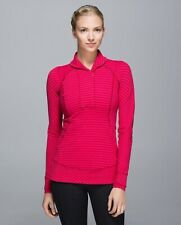Lululemon Think Fast Pullover Double Trouble Stripe Boom Juice Deepest Cranberry
