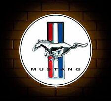 Mustang badge sign LED Luce Scatola Man Grotta Garage Officina Stanza Bambino Regalo