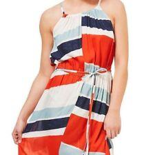 Knee Length Viscose Halter Sleeve Dresses for Women